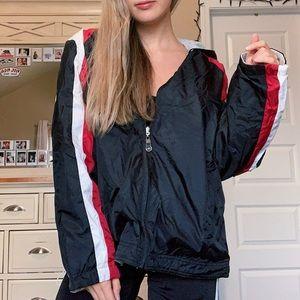 Vintage Sporty Windbreaker Oversized Jacket